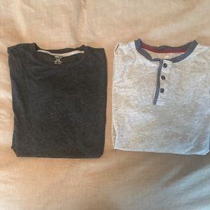 Bundle 2 Old Navy long sleeve Tshirts 14-16 husky